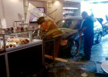 The scene of the 2011 car accident involving an elderly driver who crashed into a cafe