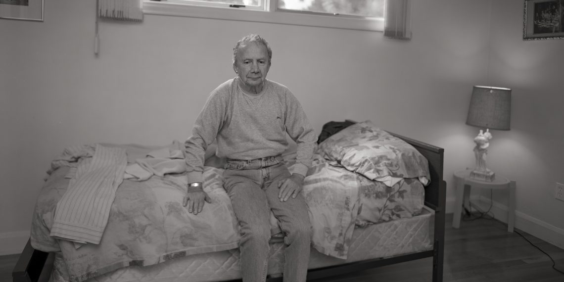 Gene DiRado at home in Marlborough, MA, November 1, 2003