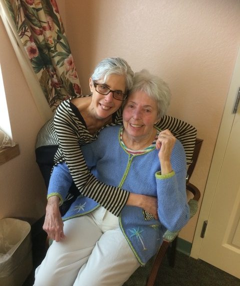 Linda Kallman and her mother, Marge Kallman in Ft. Myers, Fla. in January 2015.
