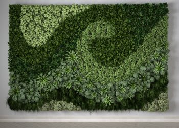Vertical garden, interior design