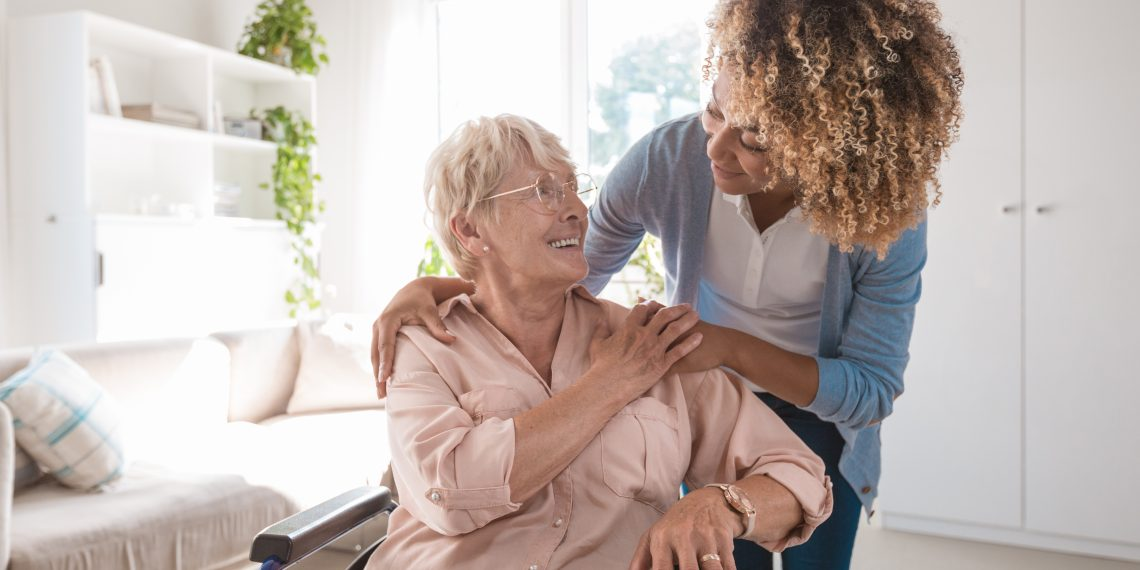 A caregiver providing long-term care.