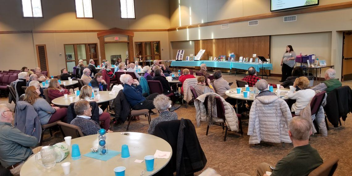 A Memory Cafe group at Calvary Lutheran Church in Grand Forks, N.D.