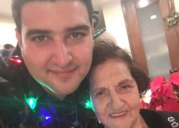 Andrew Rahal together with his grandmother (family photo)