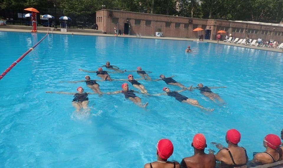 "The team performs at at the Thomas Jefferson Recreation Center pool, also in Harlem. The ""pyramid"" is their signature formation."